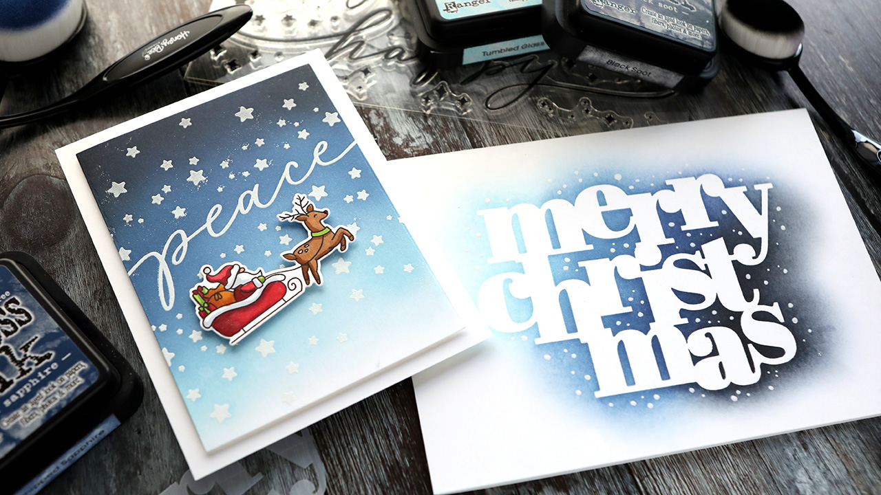 2 Ink Blended Holiday Cards – NEW Simon Holiday 2020 Release