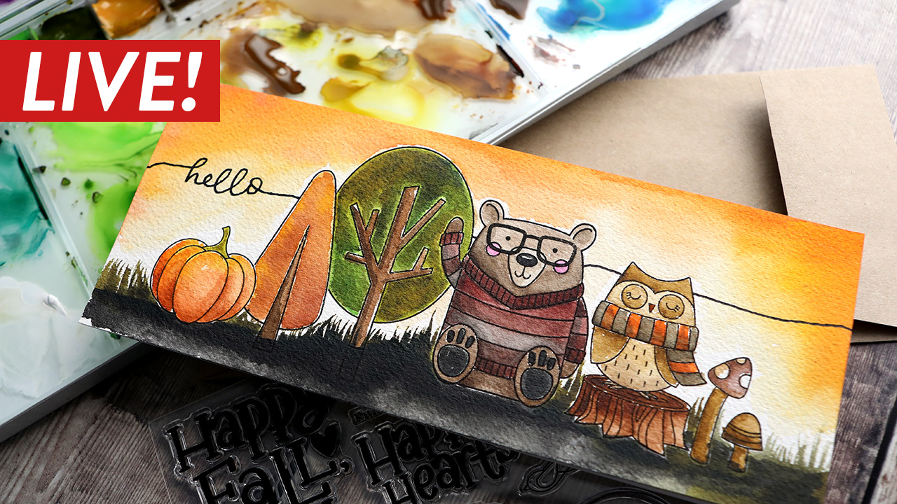 LIVE REPLAY! Creating a scene, masking & watercoloring