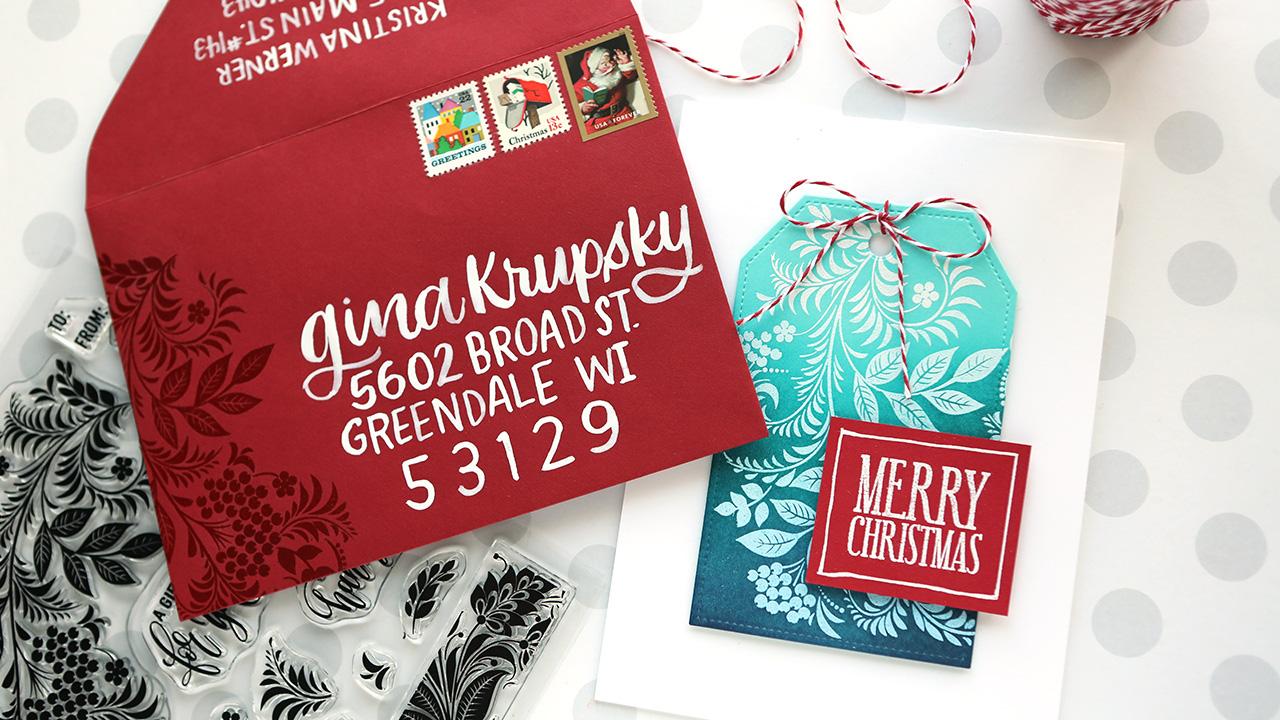 Easy Holiday Card & Matching Envelope (NEW Gina K Holiday Kit)