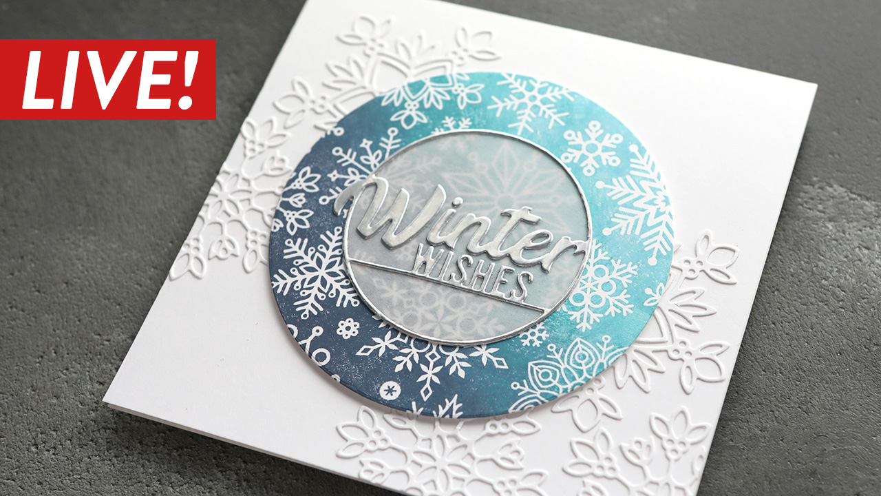 LIVE REPLAY! Holiday Card Series 2020 – Day 3 – Multicolor Stamped Snowflake Card