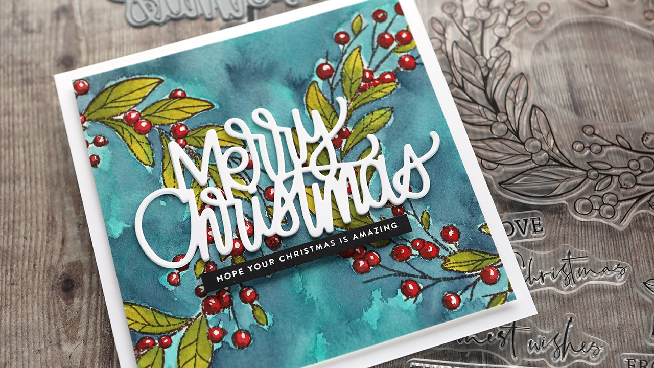Holiday Card Series 2020 – Day 4 – Double Watercolor Wreaths