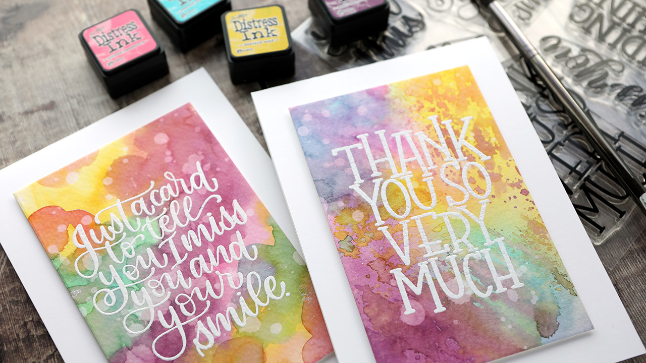 2 Ways to Use Distress Ink for Watercolor Backgrounds
