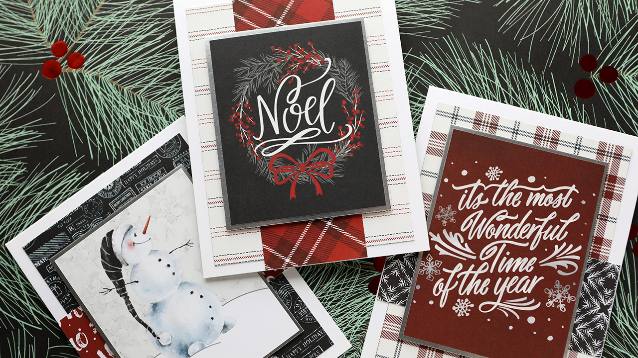 Holiday Card Series 2020 – Day 13 – All patterned paper