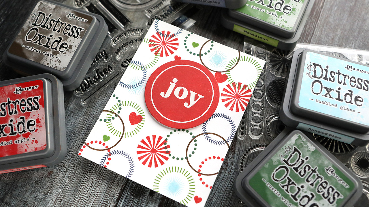 Holiday Card Series 2020 – Day 16 – Stamping & Direct-to-Paper with Oxides Inks