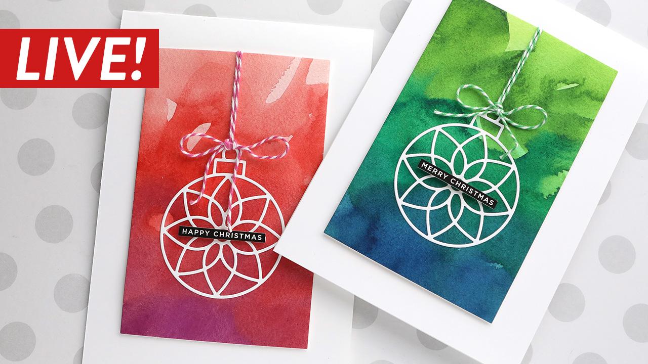 LIVE REPLAY! Holiday Card Series 2020 – Day 18 – Mijello Mission Gold vs. Sakura Koi Watercolors