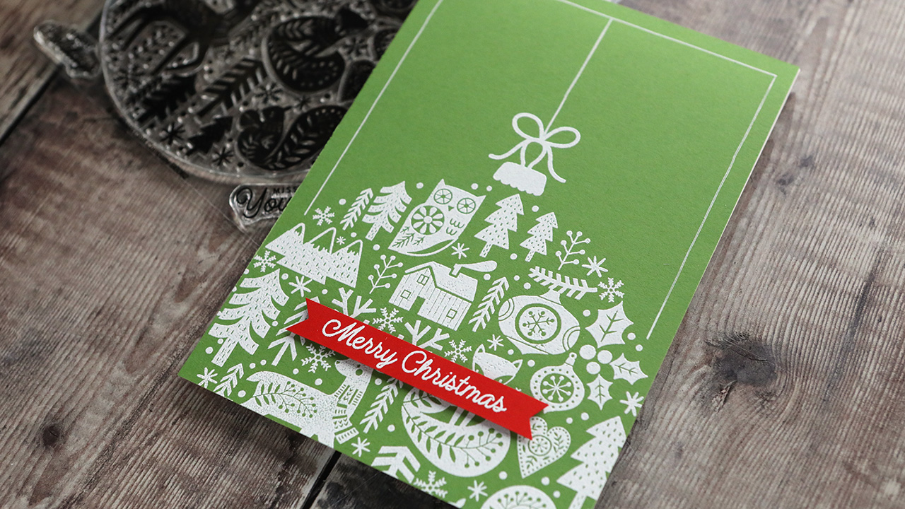 Holiday Card Series 2020 – Day 22 – Simple & Bold Card