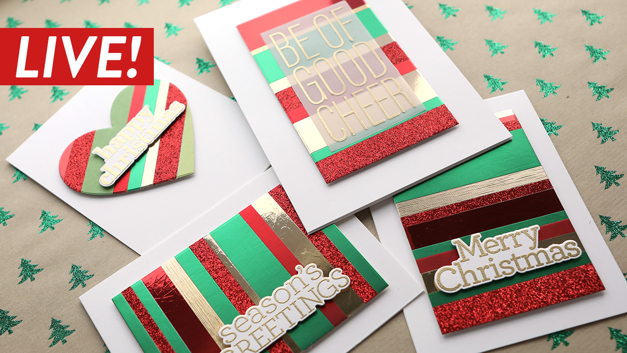 LIVE REPLAY! Holiday Card Series 2020 – Day 24 – Colorful Strips of Paper