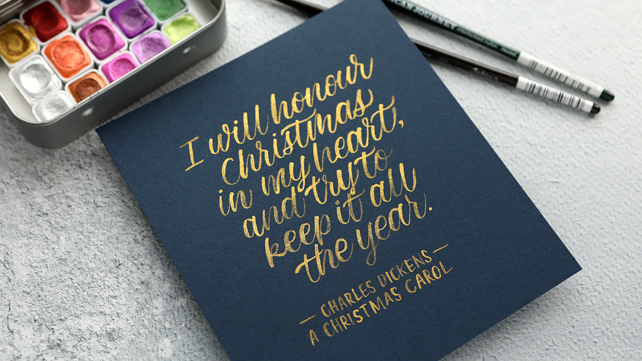 My Christmas Gift to YOU! Relaxing music & brush lettering