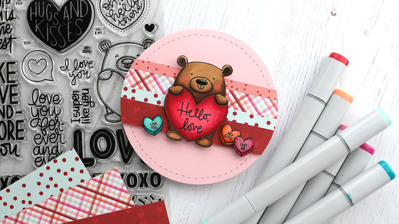 Valentine's Day Card Series – Day 4 – Circle Card & Copic Coloring