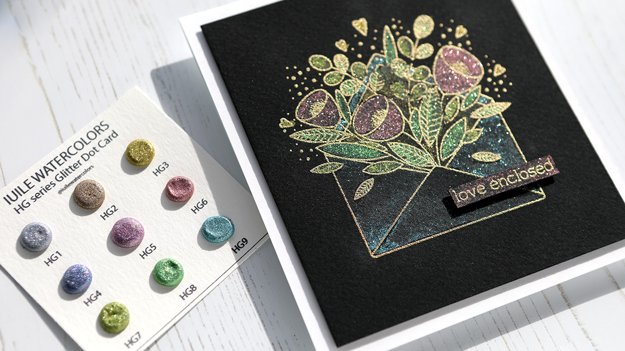 Glitter Watercolor?! Yes, please! Valentine's Day Card Series – Day 7