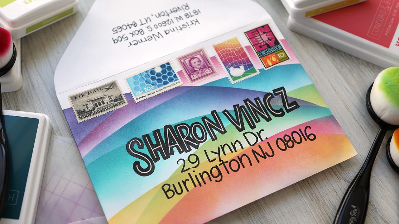 EASY Stencil Mail Art – Ink Blending & Lettering