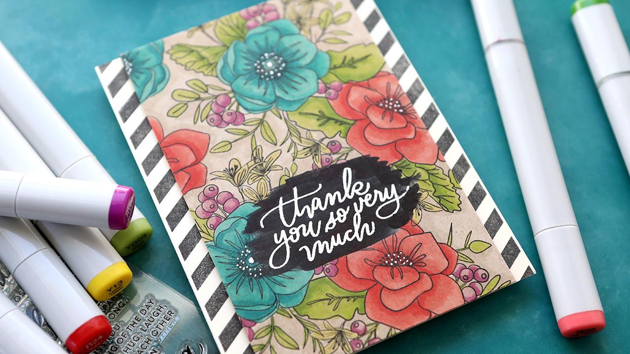Copic Coloring on Kraft Cardstock (SSS April 2021 Card Kit)