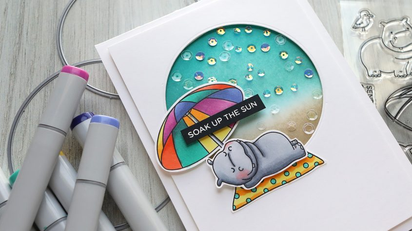 LIVE REPLAY – Faux Shaker Card & Copic Coloring, Ink Blending
