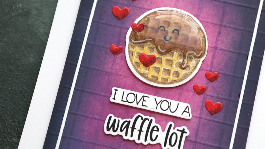 LIVE REPLAY! Waffle Love! Colored pencils + Creative ink blending
