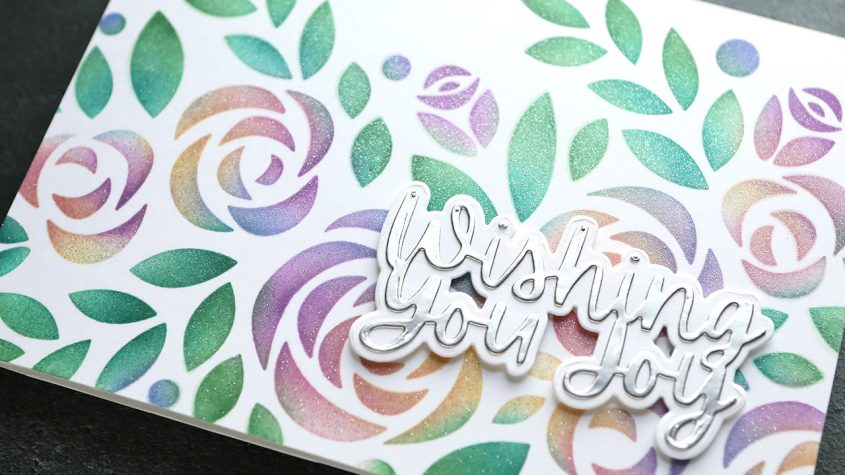 How to Get LOTS of Colors with Stencil Ink Blending + EASY Shimmer
