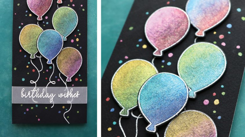 Shimmery Slimline Birthday Card! Reverse Confetti Anniversary Release!
