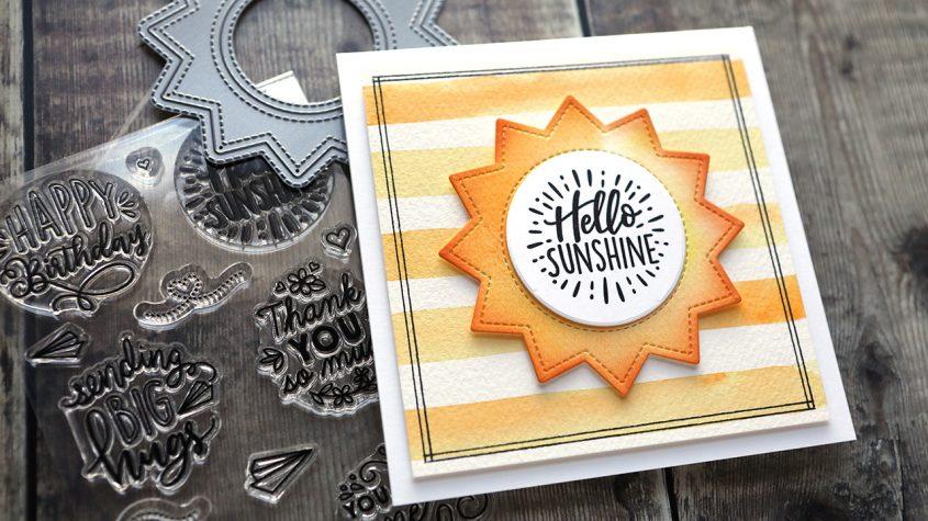 Easy & Simple Lawn Fawn Sunshine Card