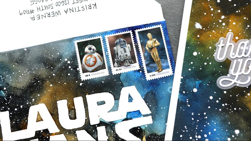LIVE REPLAY! Star Wars Inspired Card & Mail Art (Galaxy Painting)