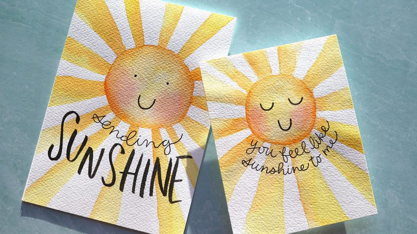 LIVE REPLAY! DIY Watercolor Sunshine Cards (no stamps or dies)