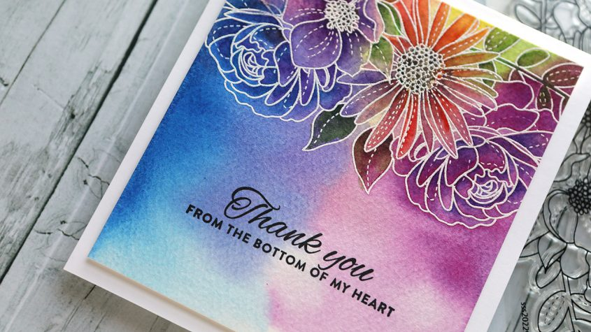 Colorful Watercolor Floral Card