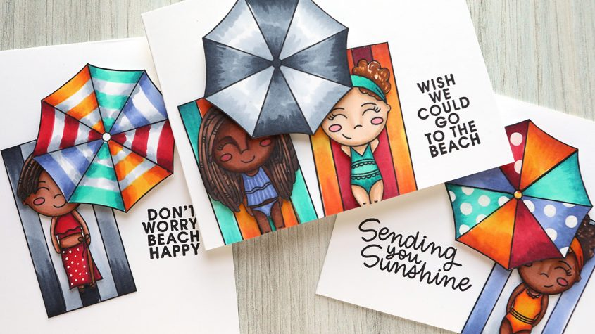 Don't Worry, BEACH Happy! Lots of Coloring with Copic Markers!