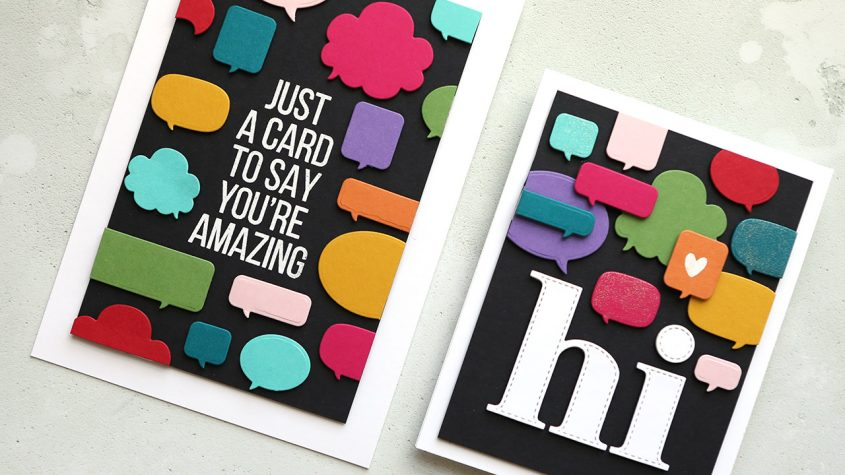 LIVE REPLAY – Lots of Talk Bubbles & Die Cutting!
