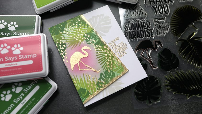 From Sketch to Card – Layered Stamping + Heat Embossing