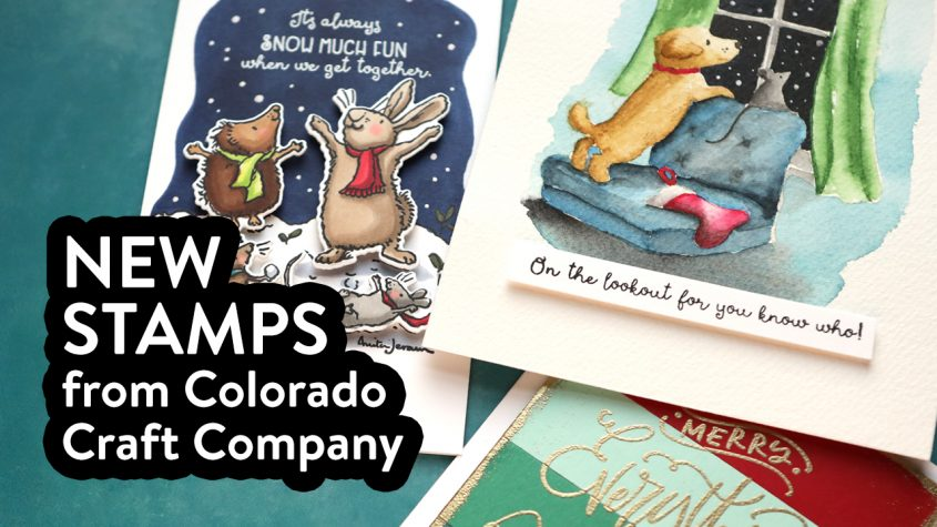 3 CARDS! NEW Stamps from Colorado Craft Company (Holiday Stamps) + GIVEAWAY!