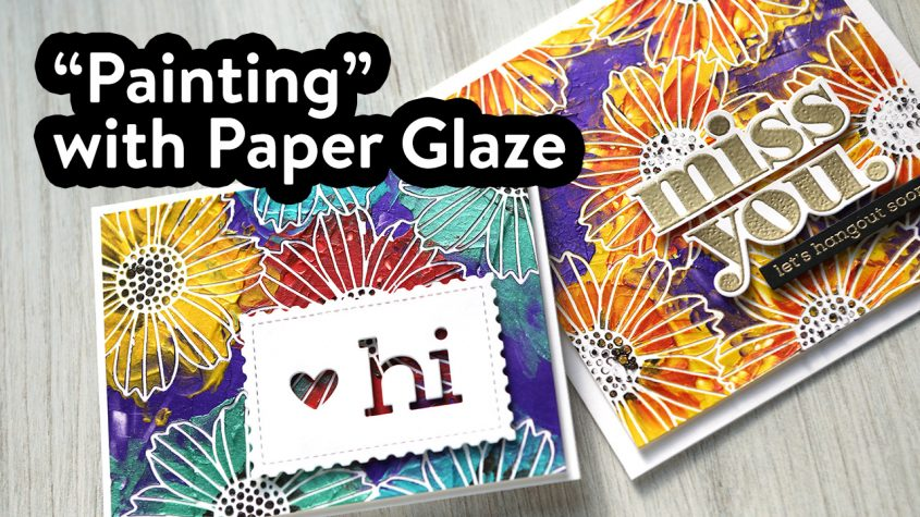 """How to """"Paint"""" with Paper Glaze & Stencils"""