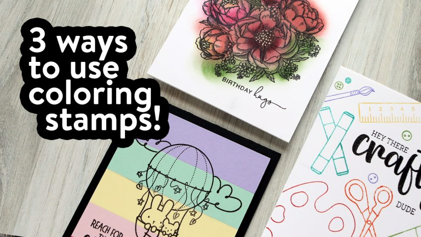 """LIVE REPLAY! 3 Non-Coloring Ways to Use """"Coloring"""" Stamps! Outline Stamp Ideas!"""