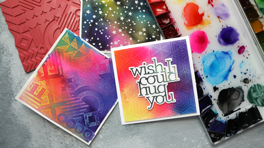 LIVE REPLAY! Three Watercolor Backgrounds WITH Stamps!