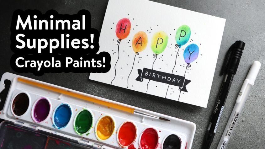 Easy DIY! Making a Birthday Card with Minimal Supplies
