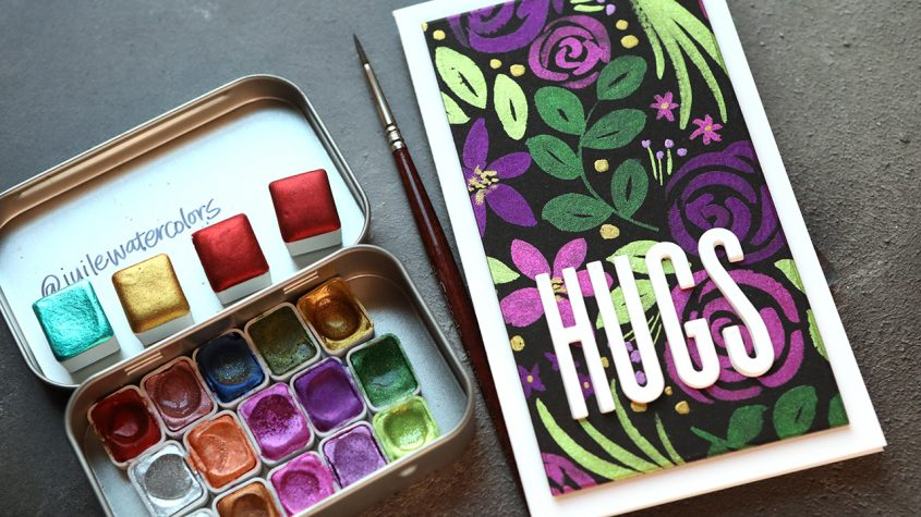 LIVE REPLAY – Watercolor Flowers on Black Paper