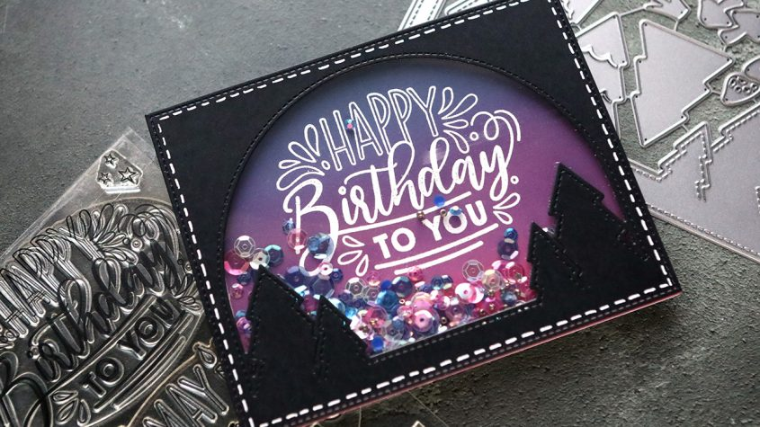 LIVE REPLAY – Ink Blended Shaker Card