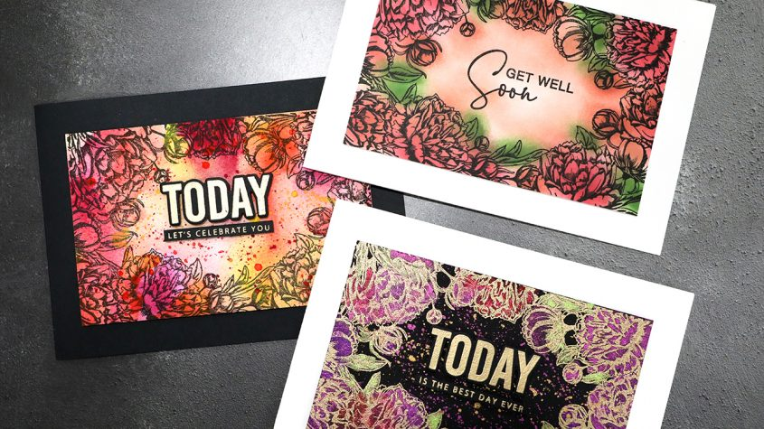LIVE REPLAY – Creating THREE Cards with One Stamp!