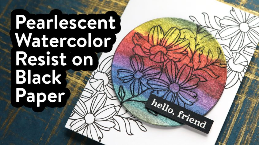 How to do Watercolor Resist with FineTec Paints + Memory Box STAMPtember Collab