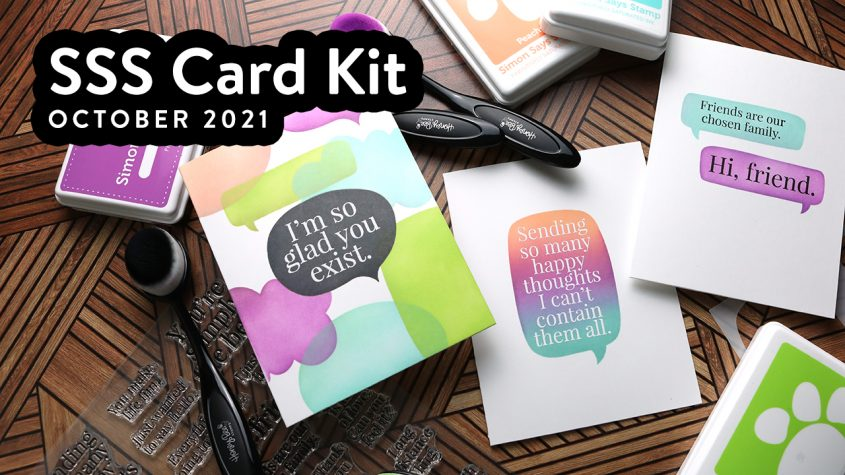 3 Clean and Simple Cards with Simon's October 2021 Card Kit