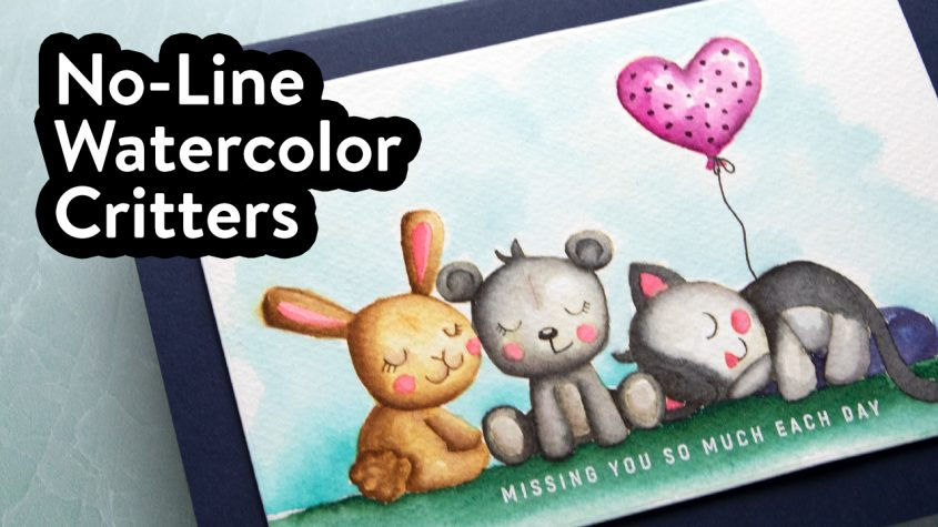 No-Line Watercoloring with Furry Friends