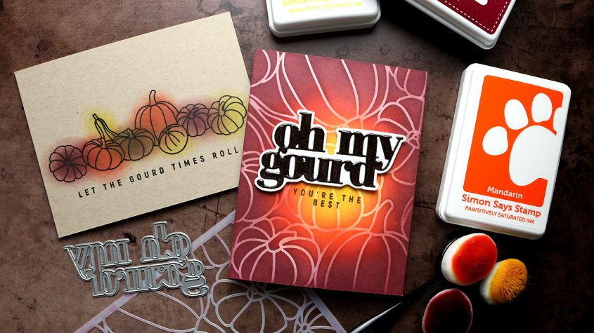 Oh My Gourd! Autumn Cards with Simon's October 2021 Release