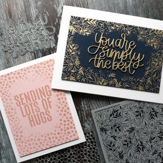 Stretch your background stamps! In today's video, I show how I created these two cards with center fade embossed backgrounds. Watch the video at the link in my bio. #kwernerdesigncards