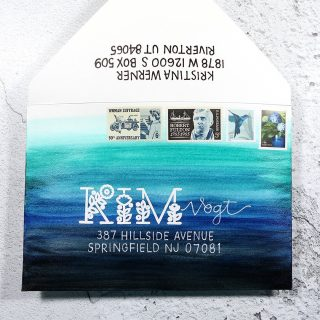 🎥 How about some mail art?! I just posted a video with tips on creating this envelope, including creating watercolor envelopes, how to protect them from moisture, and also some tips for using a white gel pen. Watch the video at the link in my bio.  ————————⠀⁠⠀⁠⠀⁠⠀⁠⠀ ***NOTE: I only use real addresses so I can mail the envelopes! Mailing address used with permission. Thanks, @kimv387!⠀⁠⠀⁠⠀⁠⠀⁠⠀ ————————⠀⁠⠀⁠⠀ If you want to submit your address for consideration for use on a future envelope, go to the link in my profile and submit your address using this month's form. There is a new form each month (to keep addresses current).⠀⁠⠀⁠⠀⁠⠀⁠⠀ ————————⠀⁠⠀⁠⠀⁠⠀⁠⠀ #kwdesignlettering #kwdesignenvelopes #mailartrainbow #mailart #envelopeart #snailmailforever #vintagestamps #postallove #handlettering #envelopes #envelopelettering