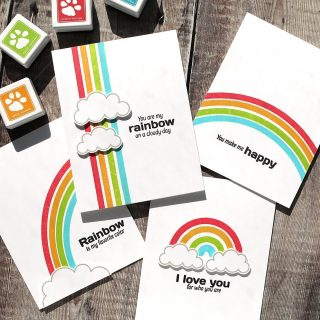 So many rainbows! I love clean and simple cards, and these beauties were super fast to make as well! Check out the video in these cards at the link in my bio. #kwernerdesigncards #sssck