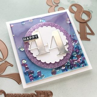 I can never resist a shaker card! I think they are so fun, and they consistently impress. And a shaker card it perfect for a birthday! See how I created this edge-to-edge shaker in my latest video. Watch it at the link in my bio. #kwernerdesigncards