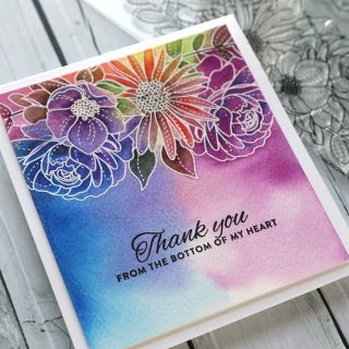 Colorful watercolor flowers are on the agenda for today! Check out today's card video at the link in my bio. #kwernerdesigncards