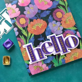 Remember that awesome @vickiboutin patterned paper that I utlimately didn't use in last Friday's livestream? I couldn't let it go! It was too pretty! So I created a painted diecut greeting to go with the paper using dies from @concordand9th. Check out how I did it in my latest video at the link in my bio. #kwernerdesigncards