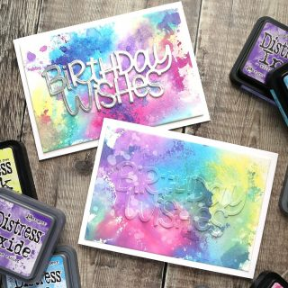 How about some ink smooshing with both @tim_holtz Distress and Distress Oxide Inks? Yes, please! Catch the replay of today's livestream (the first from my new craft room) at the link in my bio.