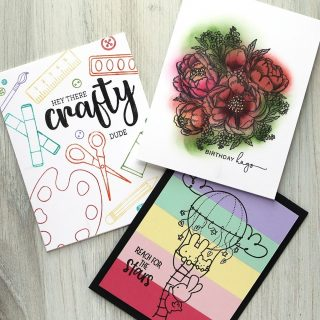 """I shared THREE easy non-coloring ways to use """"coloring"""" stamps in my livestream today! Watch the edited-for-time or the full length replay at the link in my bio. #kwernerdesigncards"""