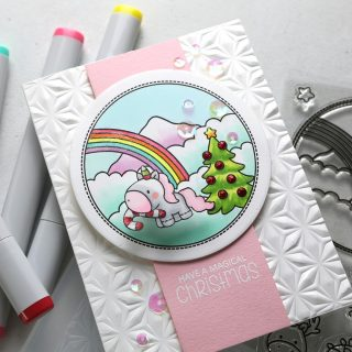 Are you all ready for some adorable Christmas cuteness? I mean, unicorns AND Christmas? Come on! Who can resist that? I know I can't. 😍 @clearlybesotted's #STAMPtember collab stamp set, Magical Christmas, is bound to sell out, so grab it quick at @simonsaysstamp! You can also get the stamp set and dies bundle. Watch the video for this card, and click over to buy it, at the link in my bio. #kwernerdesigncards