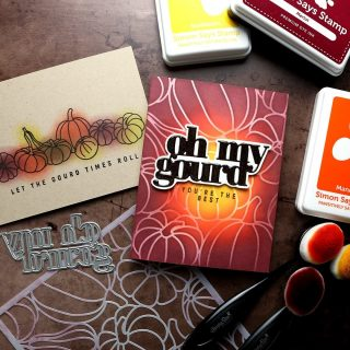 Still feeling all the autumn vibes! I played with the latest release from @simonsaysstamp and created two fall cards. Check out the video at the link in my bio. #kwernerdesigncards #ssspeaceonearth