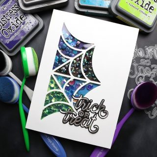 This is as SPOOKY as I get. 😂👻🎃 In my last Halloween card video for this year, I created a fun spider web shaker card! Check out the video at the link in my bio. #kwernerdesigncards